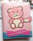 Binder Teddy Bear Pink